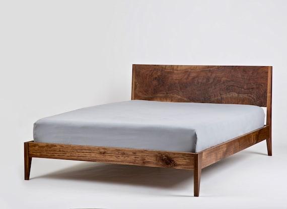 Platform Bed Mid Century Solid Wood Handmade Modern Bedroom