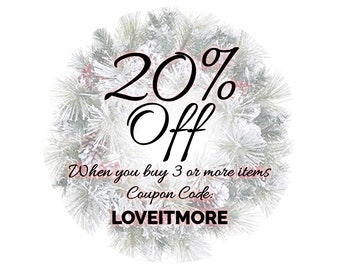 Coupon Code: LOVEITMORE   Get 20% Off When You Add 3 Or More Items Into  Your Cart. Do Not Buy This!