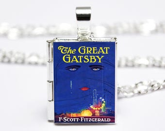 The Great Gatsby Book Locket Charm. Vintage Book Charm. F Scott Fitzgerald Book Necklace. Book Jewellery. Literary Gift. Literary Jewelry