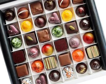 Chocolate Selection Box - Award winning handmade chocolates - Gourmet chocolate - Chocolate gifts - Luxury chocolate - Chocoholic - Truffles