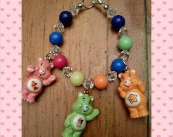 Childs charm bracelet- care bears