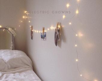 Dorm Decor Bedroom Decor Tumblr Decor Fairy Lights Teen Etsy