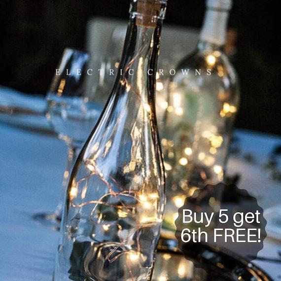 Diy Wedding Lantern Wedding Centerpiece Wine Bottle Decor Centerpiece Wine Bottle Centerpiece Wine Theme Wedding String Lights Only