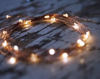 Rustic Wedding Decor, Fall Wedding Decor, Wedding Centerpiece, LED String Lights, 3ft, 6ft, 9ft, Woodland Wedding Decor, Mason jar lights