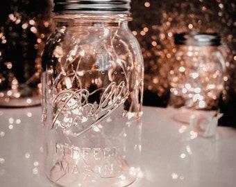Wedding Decorations, Wedding Fairy Lights, Mason Jar Lights, Firefly lights, Rustic Wedding Decor, Firefly Jar lights, battery *no jar