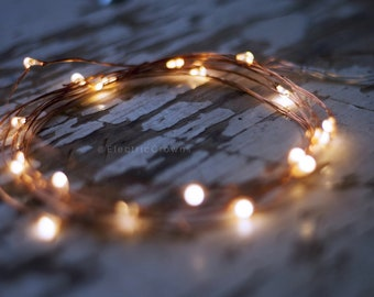 "Rustic Wedding Decor, String Lights, Rustic Wedding Table Decor, Centerpiece, Battery, Fairy lights, 10 LEDs, 20 LEDs, 39"" or 78"" inches"