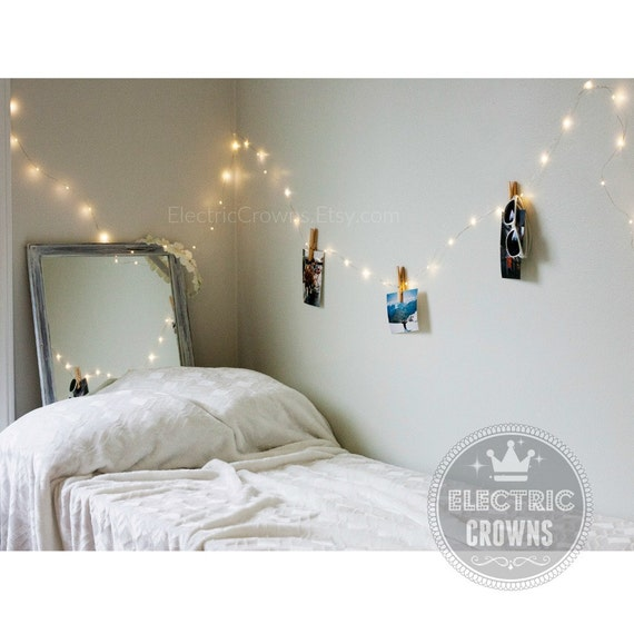 Bedroom Decor, Fairy Lights, Bedroom Lights, Home Lighting, White Accent,  Cool White, Warm White Hanging Lights, 13ft, 19ft U0026 33ft (A3)