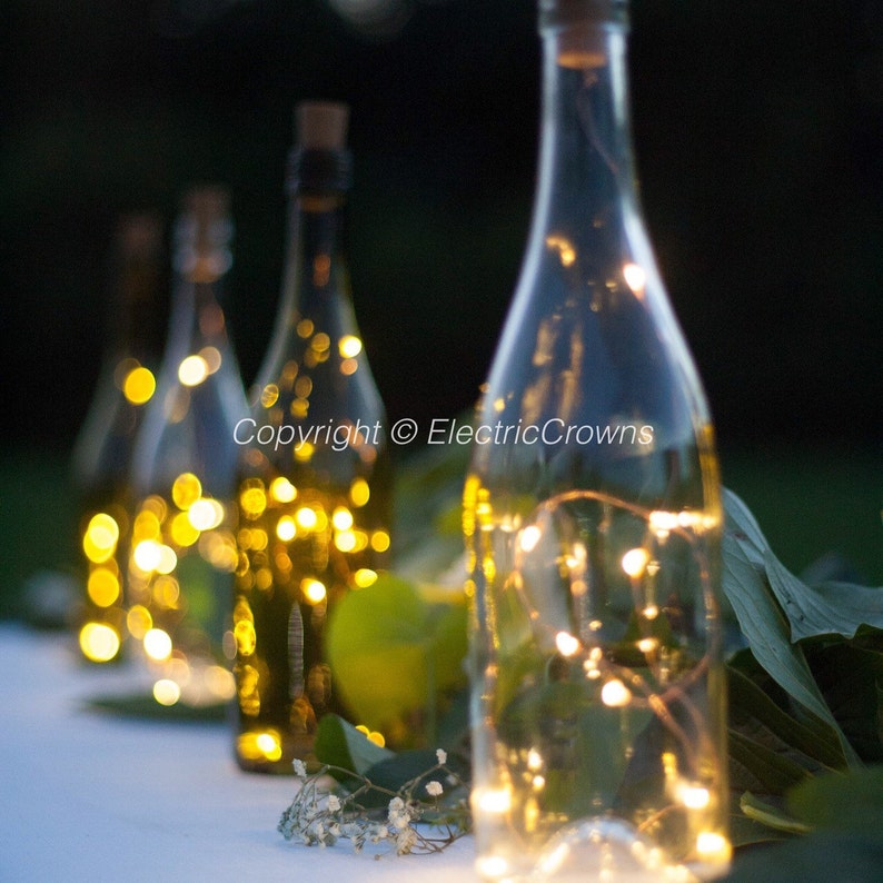 Wine bottle Lights Bottle Lights Table Decor Wine Decor image 0