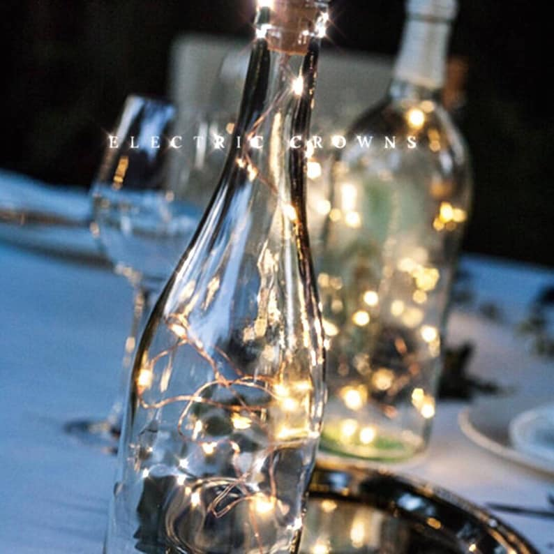 Wine Bottle Centerpieces For Weddings Wine Bottle Decor Wine Etsy
