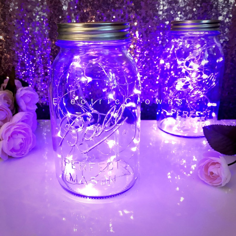 Purple, String Lights, Lighting, Wedding Decor, Fairy Lights, Violet  Wedding Decor, Lavender, Centerpieces, 1m, 2m, 3m, Led Lights, Battery