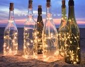 Wine bottle Lights, Wine Bottle Decor, Wine Gift, Wedding Table Decor, Fairy Lights for Wine Bottles, Wine Cork Lights only  *No bottle