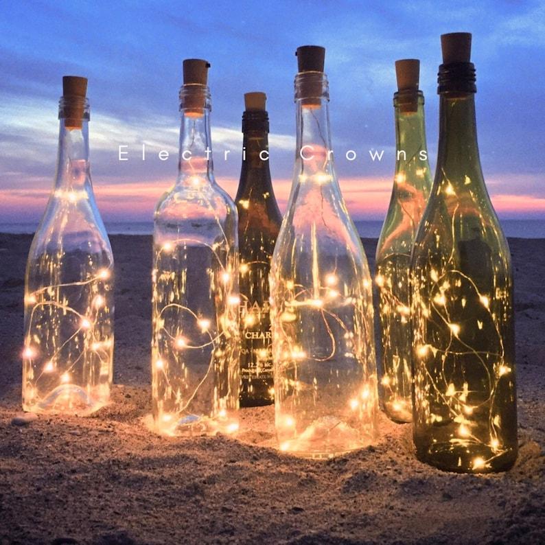 Wine bottle Lights Wine Bottle Decor Wine Gift Wedding image 0