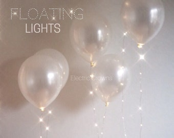 "Wedding Balloons, Wedding Decor, Wedding Reception Decor, Wedding Lights, White Balloons, Wedding Lighting, String Lights, Pearl White, 12"""