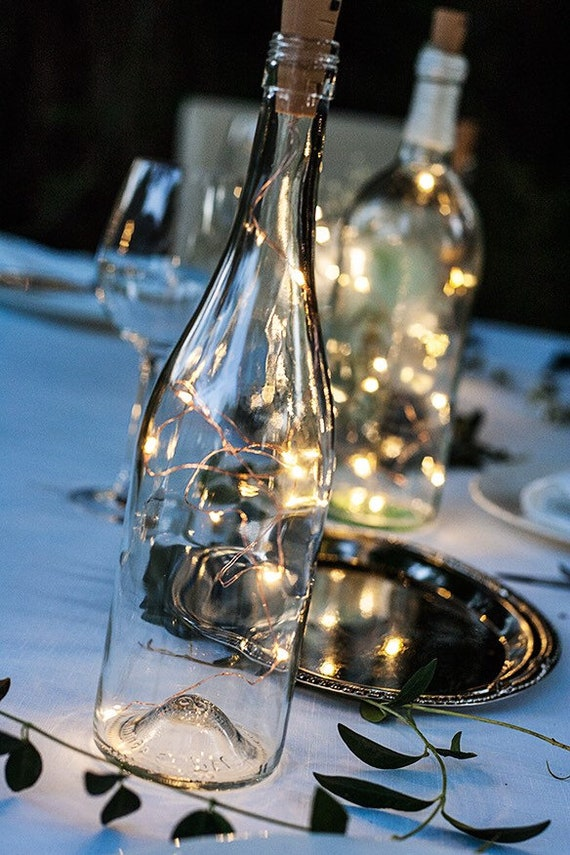 Wine Bottle Centerpieces for Weddings Wine Bottle Decor Wine | Etsy