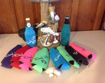 Zip Bottle Huggie/Cooler Rivah Life™  - You Choose - Many Colors Available