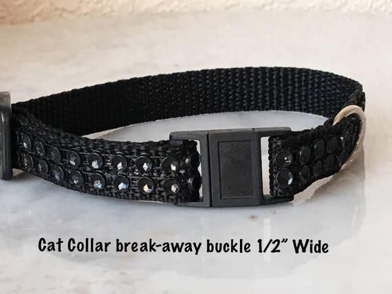 Rhinestone//Diamante Bling Dog Collar Quick Release Buckle Adjustable Unisex USA