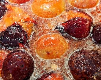 Pluot Jam with Orange Flowers