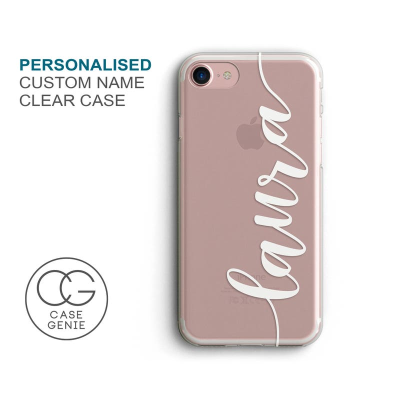 Personalised Handwritten Name Clear Phone Case for iPhone 11 image 0
