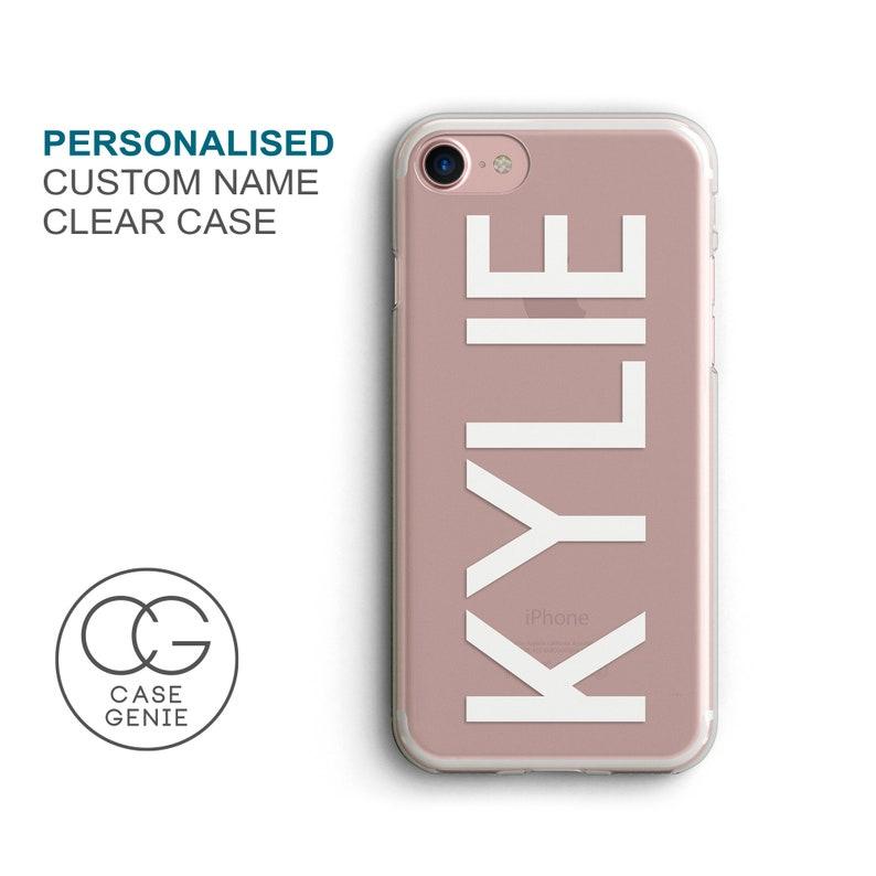 new style fe571 92752 Personalised Name Clear Phone Case for iPhone X Xs Xr Max 8 Plus 7 6 6s 5  5s SE S10 Plus Cell Cover TPU Hybrid Tough Bumper Custom OST