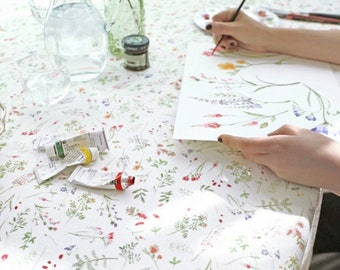 Classy linen Fabric by the yard vivid spring wide 4yo 1359245
