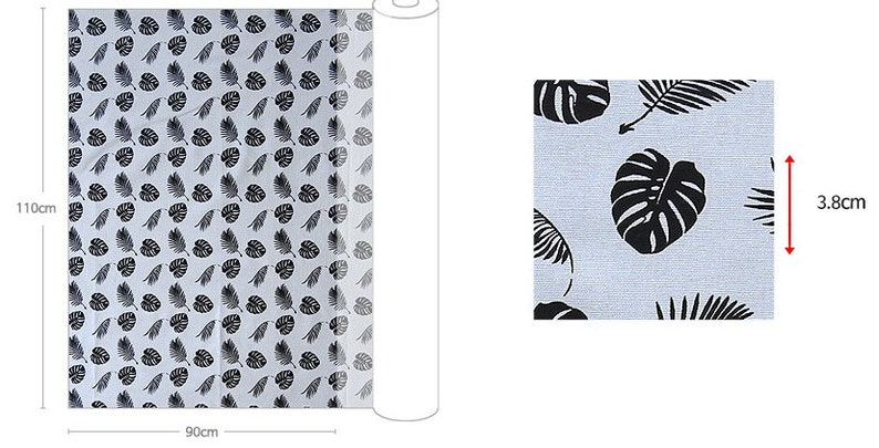 Light Gray/_43.3 wide SAM 149595 Oxford Cotton Fabric by the yard Simple Leaf/_ Ivory