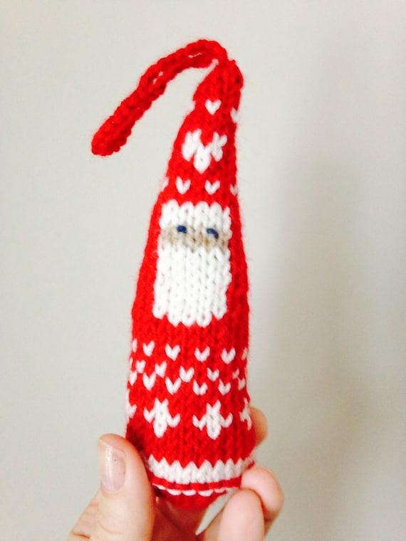 Escandinavo Santa Navidad ornamento tejer patrón 2 diseños   Etsy