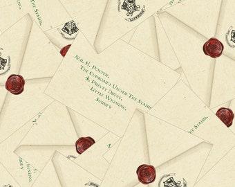 harry potter hotwarts inspired acceptance letter envelope jpg files printable party favor decoration prop invitation diy