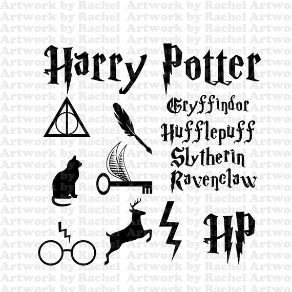 Cricut Template Harry Potter Inspired Silhouette No Fill Png Etsy