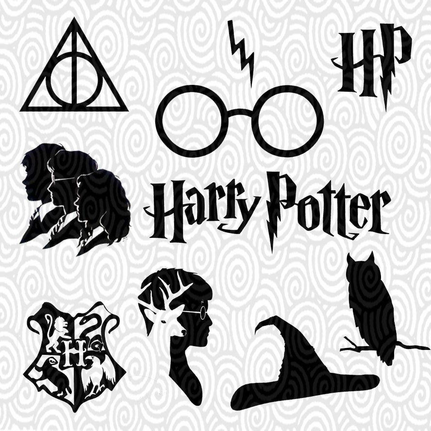 Cricut Template Harry Potter Silhouette No Fill Png Files Etsy