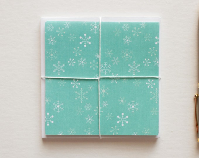 Blue Snowflake Cards