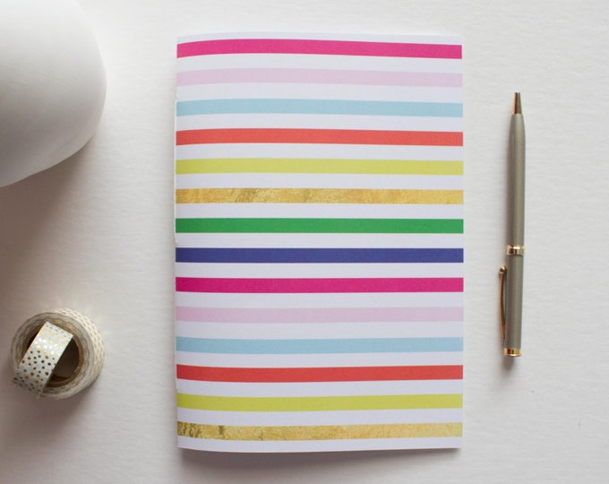 Colorful Striped Therapy Journal