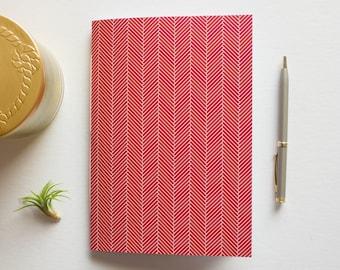 Red Herringbone Journal
