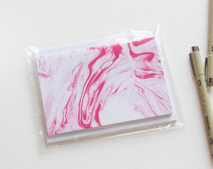 A2 Marbled Note Cards