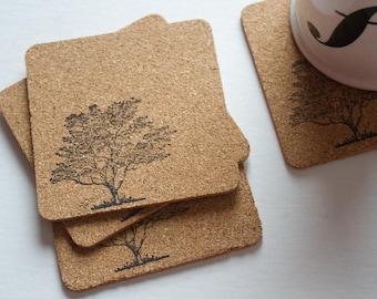 Tree Cork Coasters