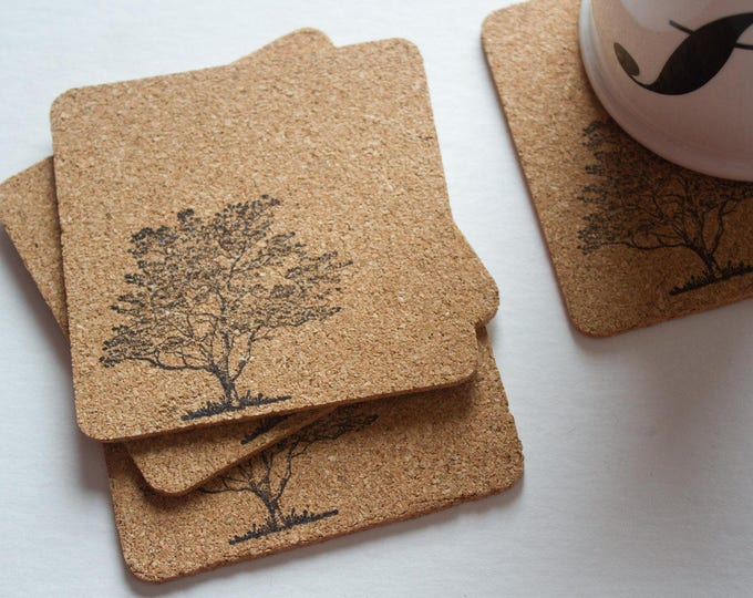 Tree Cork Coasters