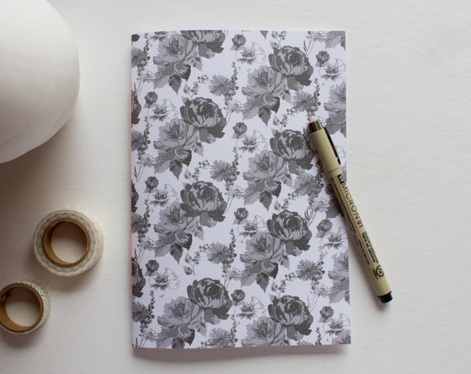 Black & White Floral Notebook