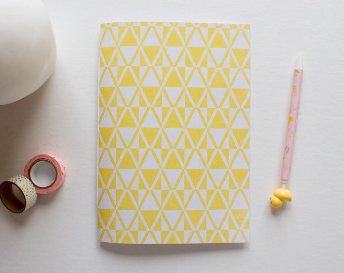 Yellow & White Geometric Journal