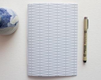 Blue & White Geometric Journal