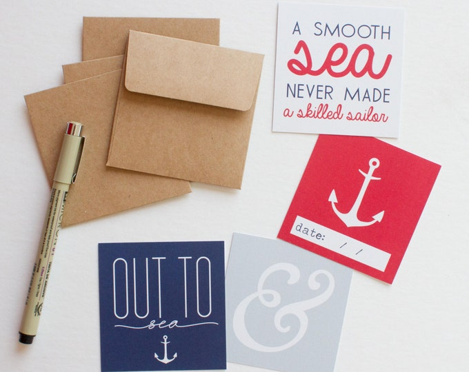 Nautical Lunch Box Cards