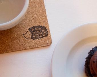 Hedgehog Cork Coasters