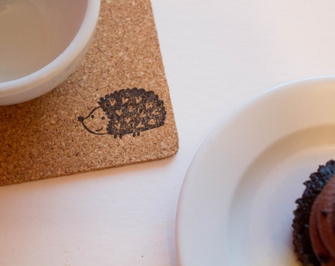 Hedgehog Cork Coasters