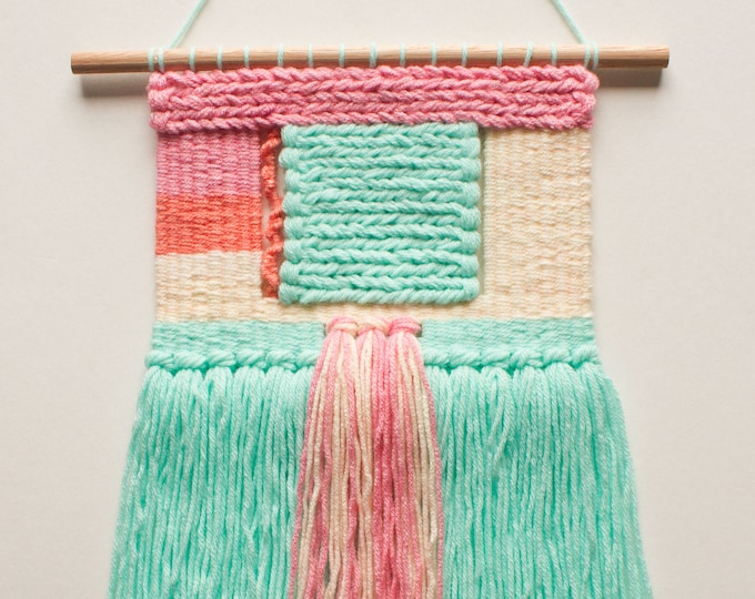 Bubble Gum, Woven Wall Hanging
