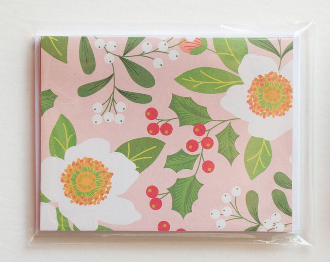 Pink Blank Christmas Cards