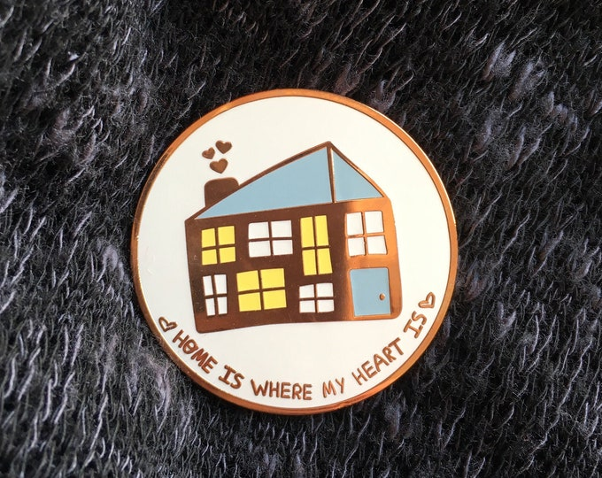 Rose Gold Home Pin