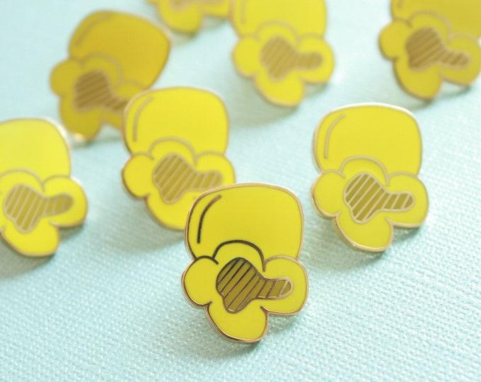 Popcorn Enamel Pin