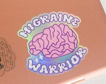 Holographic Migraine Warrior Sticker