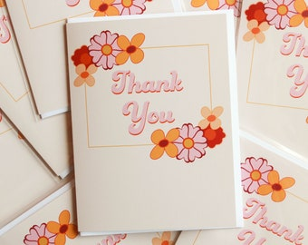 70's Inspired Thank You Card