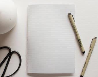 Gray & White Striped Notebook