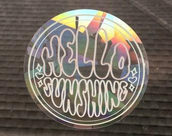 Hello Sunshine Suncatcher - Removable Window Decal