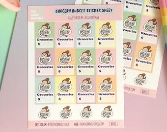 Grocery Budget Sticker Sheet